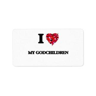 I Love My Godchildren Address Label