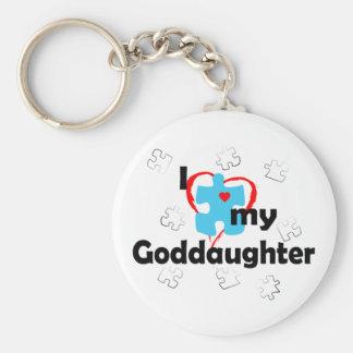 I Love My Goddaughter - Autism Keychain