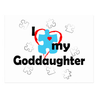 I Love My Goddaughter - Autism Postcard