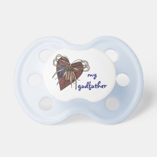 I Love My Godfather Heart BooginHead Pacifier