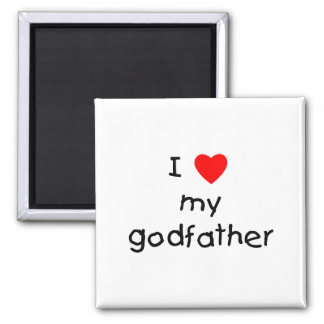 I Love My Godfather Refrigerator Magnet