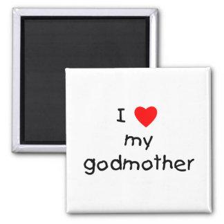 I Love My Godmother Fridge Magnet