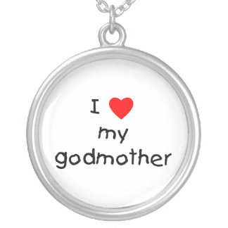 I Love My Godmother Silver Plated Necklace