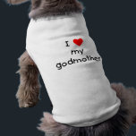 """I Love My Godmother Tee<br><div class=""""desc"""">Show everyone you love your godmother with this I love my godmother design in the ever popular I (heart) my godmother style.</div>"""