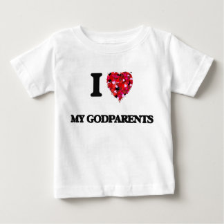 I Love My Godparents Baby T-Shirt