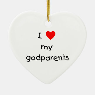 I Love My Godparents Ceramic Ornament