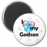 I Love My Godson - Autism Refrigerator Magnets