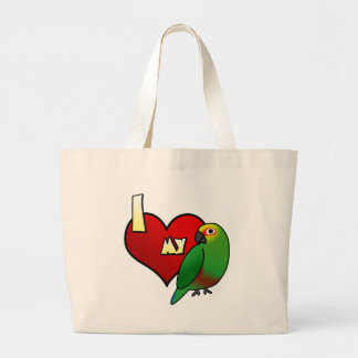 I Love my Golden Capped Conure Large Tote Bag