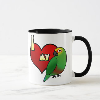 I Love my Golden Capped Conure Mug
