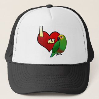 I Love my Golden Capped Conure Trucker Hat