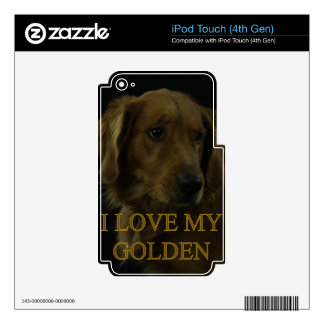 I Love My Golden iPod Touch 4G Skin