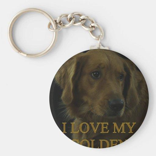 I Love My Golden Keychain