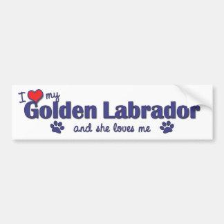 I Love My Golden Labrador (Female Dog) Bumper Sticker