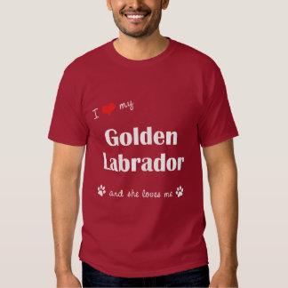 I Love My Golden Labrador (Female Dog) Dresses