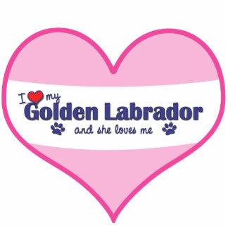 I Love My Golden Labrador (Female Dog) Statuette