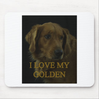I Love My Golden Mouse Pad