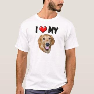 I Love My Golden Retriever 2 T-Shirt