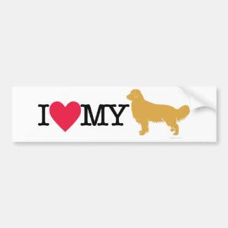 I Love My Golden Retriever ! Bumper Sticker