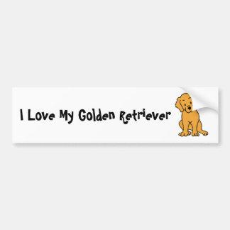 I Love My Golden Retriever Bumper Sticker