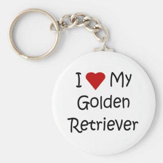 I Love My Golden Retriever Dog Lover Gifts Keychain
