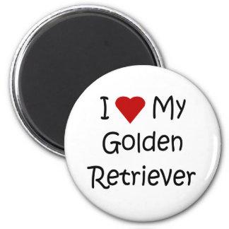 I Love My Golden Retriever Dog Lover Gifts 2 Inch Round Magnet