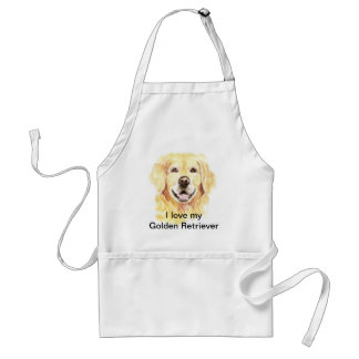 I Love my Golden Retriever, Dog, Pet Adult Apron