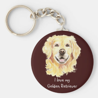 I Love my Golden Retriever, Dog, Pet Keychain