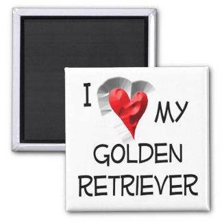 I Love My Golden Retriever Magnet