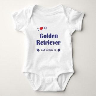 I Love My Golden Retriever (Male Dog) Infant Creeper