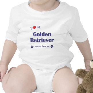 I Love My Golden Retriever (Male Dog) Shirts