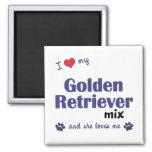 I Love My Golden Retriever Mix (Female Dog) Magnets