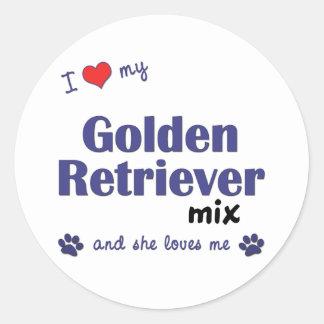 I Love My Golden Retriever Mix (Female Dog) Sticker