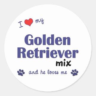 I Love My Golden Retriever Mix (Male Dog) Stickers