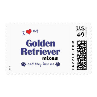 I Love My Golden Retriever Mixes (Multiple Dogs) Postage Stamp