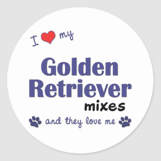 I Love My Golden Retriever Mixes (Multiple Dogs) Stickers