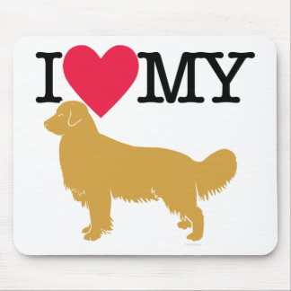 I Love My Golden Retriever ! Mouse Pad