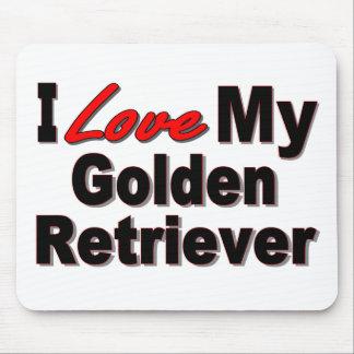 I Love My Golden Retriever Mousepad Mouse Pad