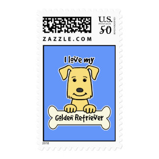 I Love My Golden Retriever Postage