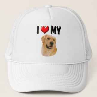 I Love My Golden Retriever Trucker Hat