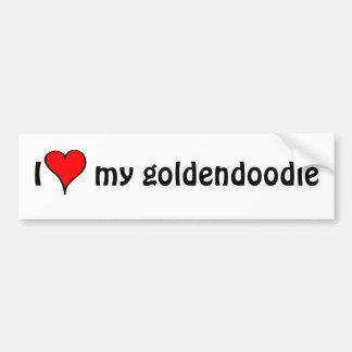 I Love My Goldendoodle Bumper Sticker