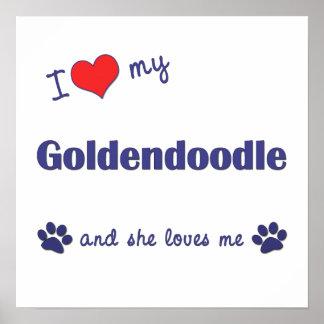 I Love My Goldendoodle Female Dog Poster Print