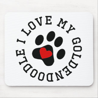 I Love My Goldendoodle Mousepads