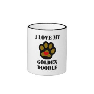 I Love My Goldendoodle Mug