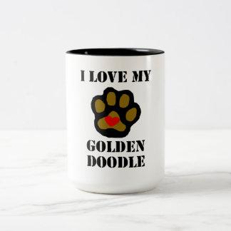 I Love My Goldendoodle Two-Tone Coffee Mug