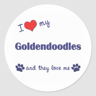 I Love My Goldendoodles (Multiple Dogs) Classic Round Sticker