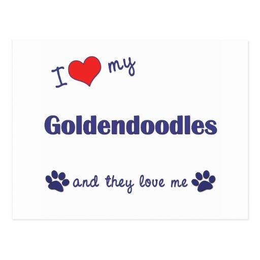 I Love My Goldendoodles (Multiple Dogs) Postcards