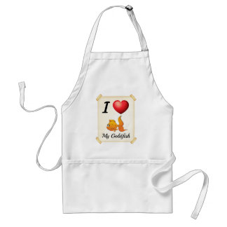 I love my goldfish adult apron