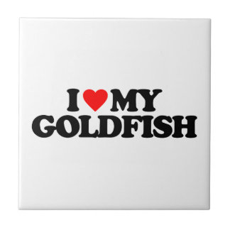 I LOVE MY GOLDFISH CERAMIC TILES