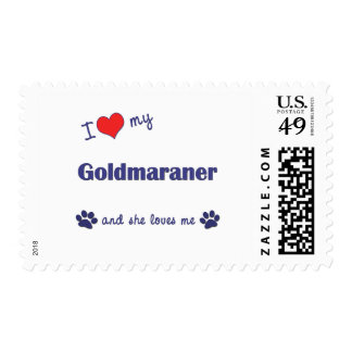 I Love My Goldmaraner (Female Dog) Postage