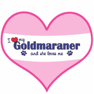 I Love My Goldmaraner (Female Dog) Statuette
